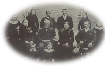 The Butterfield family of Timber Hill, Broughton-in-Furness, in about 1901